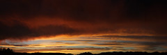 Sunrise 7 22 2016 Panorama (Az Skies Photography) Tags: sun rise sunrise morning dawn daybreak cloud clouds sky skyline skyscape red orange yellow gold golden salmon black july 22 2016 july222016 7222016 72216 canon eos rebel t2i canoneosrebelt2i eosrebelt2i rio rico arizona az riorico rioricoaz arizonasky arizonaskyscape arizonaskyline arizonasunrise
