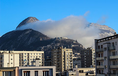 La Bastille (LouRousselot) Tags: grenoble bastille nuage ciel btiments chartreuse couleur