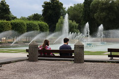 or are you just pleased to see me? (The Relevant Authorities) Tags: london battersea batterseapark fountain park bench water people couple date dating summer