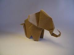 Elephant  Nobuyoshi Enomoto (Rui.Roda) Tags: origami papiroflexia papierfalten elefante elephant nobuyoshi enomoto