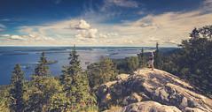 Admiring the View (Ville Airo) Tags: koli national park finland finnish landscape view summer clouds person outdoor lake pielinen self selfie portrait lieksa