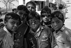 Too cool for school? (bighands@yahoo.com) Tags: gujarat india in portrait people sigma18250mm monochrome schoolboys sigma nikond3200 nikon blackandwhite travel