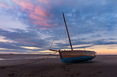Little fluffy clouds (SiKenyonImages) Tags: meols sunset pink blue clouds boat wirral merseyside liverpool hoylake