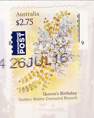 Australien Juli (postcardlady1) Tags: briefmarke stamp