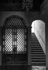 (untitled) (born ghost) Tags: lucca architecture bw blackwhite doorways italy monochrome paths shape tuscany