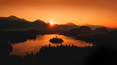 Bled Silhouette (Dejan Hudoletnjak) Tags: landscape silhouette reflections lake lakebled bled slovenia panorama wideanglepanoramicview wideangleview cold aftersnow autumn nearwinter endoffallseason dramatic vibrant isleonlake magicalplace magical magic night touristattraction relax calm holiday outdoor sky church blue sunrise