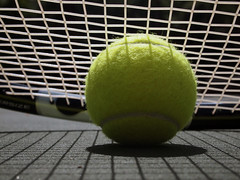 Anyone for tennis? (marcy0414) Tags: tennisball tennis racket racquet shadow macro macromonday macromondays summer summerolympicsports ball explore explored