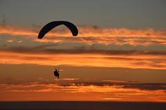 DSC_1772 (justinecharrel) Tags: sunset coucher de soleil auvergne france puydedome volcan montagne nature landscape paysage colors orange red blue sky clouds sun parapente parasailing nikon nikond3200 out