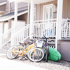 (gwoolston) Tags: bikes paddleboard porch stones seashore jerseyshore stoneharbor beach ocean