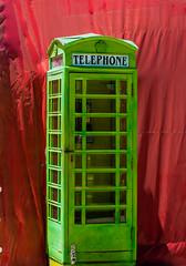 Green British phone box (tubblesnap) Tags: las vegas green bt telephone box red british