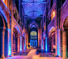 Mont St Michel Abbey (adrianchandler.com) Tags: worship france interior city french indoors place church architecture montsaintmichel europe abbey normandy building