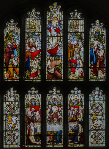 Harlaxton, Ss Mary & Peter church east window