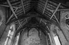 Shropshire - Shrewsbury, Stokesay Castle (Agnieszka Eile) Tags: uk wales shropshire shrewsbury stokesay bw blackandwhite roof