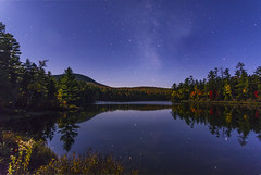 Milky Way over Hill's Pond, Wilton, ME 2_CC (Cindy Farr-Weinfeld) Tags: milkyway stars night photography landscape maine wilton westernmaine