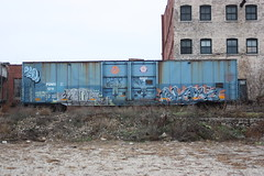 11-26.2-11 (6) (This Guy...) Tags: graf graff graffiti train car traincar rail road railroad rr box boxcar 2011 alamo alb