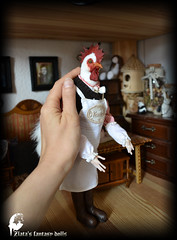 Rooster Mr. D'Kokowill, Anthropomorphic Art Doll, Anthro doll, Furry doll, Fantasy Doll, 1:6 Dollhouse doll, Handmade doll, OOAK, interior doll, Rooster, Cock, cock-a-doodle-doo, cockerel. (Professional Art Doll Maker) Tags: rooster artdolls arttoy artsculpture collectibles collectiblesdolls dolls dollsstory dolls ooakdolls anthropomorphic anthrogon anthro anthroartdoll worldofdollsanthrogon dollhousedolls 16dollhouse 16doll interiordolls roosterartdoll roosterdoll anthrorooster furry furrydoll furryart furrychick furrygifts furryrooster cock cockdoll cockanthro confectionery miniaturedolls miniature miniatures miniaturedoll