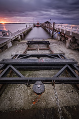 Sunset (miguel_lorente) Tags: holland sun dock netherlands sunset seascape nd longexposure marken