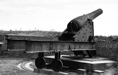 Artillery Cannon at Fort McHenry National Monument - Baltimore MD (mbell1975) Tags: baltimore maryland unitedstates us artillery cannon fort mchenry national monument md bw usa america american historic festung fortress citadelle citadel castelo borg 1812 war battle cannons gun