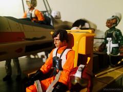 John Brannon has a bad feeling... (Macroworlder) Tags: star wars hasbro disney rebel pilots hangar bay xwing starfighter droids john brannon sullustan