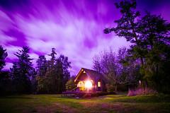 ROYGBIV Challenge: Indigo (Sara Dilley) Tags: landscape house cabin purple indigo witchy longexposure nightphotography night canon canon5dmarkii
