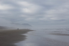 Fade (Ken Cruz --- Fernweh) Tags: oregon oregoncoast beach seascape seaside fog foggy nature natural naturallandscape landscape cloudy clouds people fading water pacificnorthwest pacificocean ocean serene vanishingpoint