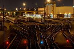 The modest train system of LA (AbrahamHuitron) Tags: dtla losangeles night train hdr transit california downtown city cityscape dark outdoor architecture metro