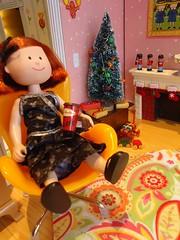 Madeline enjoys a cup of Tim Horton's hot chocolate (Helen725) Tags: christmas italy mouse nicole dolls disney mickey dresses bunch minnie madeline brady