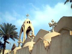 Monastery and Church of St. George - Nazlat El-Samman - Plateau pyramids - Giza - By Amgad Ellia 07 (Amgad Ellia) Tags: church st by george plateau monastery pyramids giza amgad ellia nazlat elsamman