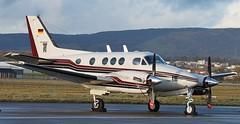 D-IIKM Beech C90A King Air,Glasgow Airport 6/1/15 (BS Images.) Tags: scotland airport glasgow aircraft aviation beechcraft beech kingair glasgowairport c90 egpf diikm