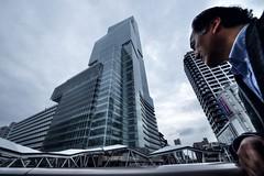 Abeno Harukas and Me (hidesax) Tags: building japan skyscraper nikon raw osaka hdr highest 300m 5xp abenoku hidesax d800e abenoharukasandme
