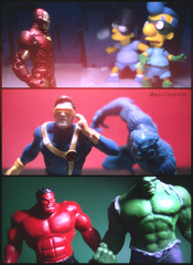 Some super guys! (Gui Lopes BH) Tags: boy red man toys miniatures iron bart simpsons cyclops collection xmen beast hulk figurine marvel avengers fallout milhouse bartman eaglemoss guilopesbh