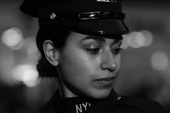 Faces (Narratography by APJ) Tags: nyc newyorkcity night bokeh police protect serve apj narratography