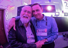 A tender moment with my Dad at TED this year, and a photo tribute to his passage.  R.I.P. (jurvetson) Tags: party ted love photo yahoo hug dad rip father tony tribute grip jurvetson 2014 tonu photobyjohnwerner