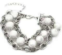 5th Avenue White Bracelet P9410-3