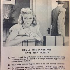 (layla blackshear) Tags: ladies vintage magazine weird women antique ad marriage advertisement disturbing lysol femininehygiene germicide motionpicturemagazine saveyourmarriage couldthismarriagehavebeensaved