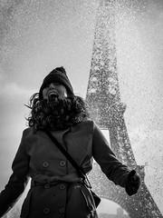 Paris #7 (Jorge Amrico) Tags: street portrait urban bw white black paris blanco candid negro olympus eiffel f18 45mm omd em5