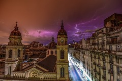 stormy weather (karinavera) Tags: city travel light storm weather night photography buenosaires bolt once balvanera psexpress ipadedition nikond5300