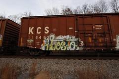 Besto (Revise_D) Tags: graffiti trains graff tagging freight revised trainart besto fr8 bsgk benching fr8heaven fr8aholics fr8bench benchingsteelgiants freightlyfe