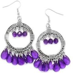 Glimpse of Malibu Purple Earrings P5420-5