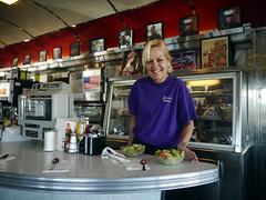 Waitress at Jennie's Diner (johngilbert77) Tags: lumix g panasonic vario 1442mm