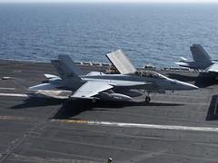 VFA-213 F/A-18F Super Hornet BuNo 166684, AJ-206 (skyhawkpc) Tags: usmc airplane aircraft aviation navy marines hornet boeing naval usnavy 2009 usn usmarines superhornet fa18f cvn71 fa18c usstheodoreroosevelt vfa213blacklions vfa15valions 166684 164629 aj206 aj311
