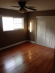 (awama) Tags: brown white floors bedroom before after hardwood refinished