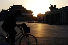 Pyongyang /  (North Korea) - Kim Il-Sung Square (Danielzolli) Tags: plaza bike bicycle square place platz korea piazza trg velo fahrrad piata northkorea rower bicicletta pyongyang plass corea coreadelnorte plac kore koryo namesti nordkorea kldr skwer koreja   noordkorea   coredunord   coreadelnord  pjngjang demokratischevolksrepublikkorea  dprkorea koreapnocna severnkorea   pjongjang    severnakoreja pionyang dvrkorea szakkorea sjevernakoreja