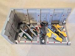 LEGO® Star Wars: Interceptor Starfighter Hangar - 12 (jm_aalen) Tags: star republic space hangar cockpit battle widget spaceship wars gunship interceptor moc starfighter actis greebles eta2 lego® afollu nurbies