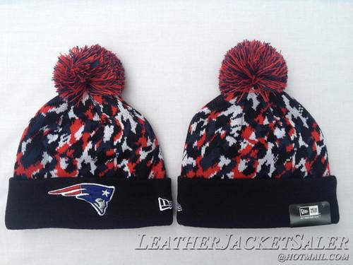 b97e4b176 New England Patriots Beanie New Era Hat Pom NFL Winter Knit Caps BCA  CRUCIAL CATCH