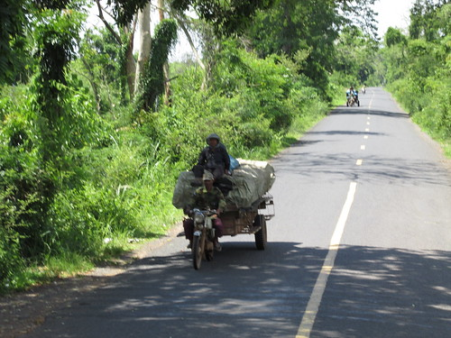 SCaur la route Cambodge