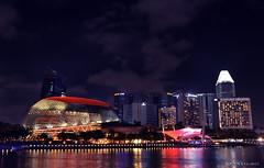 Esplanade Theatre (kenneth gambalan) Tags: city night marina mall photography hotel bay nikon singapore long exposure theatre outdoor esplanade mandarin amphitheater oriental kenneth gambalan d5100