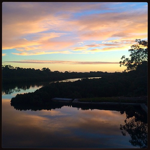 069/365 • sunset - high tide - bedtime • #069_2015 #autumn2015 #Westernport #clouds #light #viewfromthedeck #goodnight