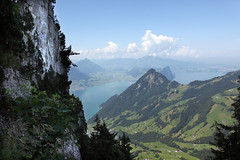 Blick vom Abstieg auf der Leiter von der Rigi Hochflue (uwelino) Tags: alps lago schweiz switzerland europa europe suisse swiss brunnen adventure alpen wandern vierwaldstttersee schwyz alpin leiter rigi goldau gersau spectacularlandscape hochflue swisstravel swisstravelspectacular