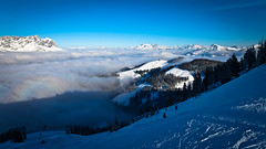sun & snow & ground fog (explored on February 26th, 2015) (:: ed 37 ::) Tags: winter mist snow fog clouds canon austria cloudy ground wintertime tyrol wilderkaiser scheffau canoneosd canoneos5dmarkii ef2470f28liiusm